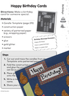 Birthdays Puzzles and Activities (K–2)