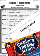 Booker T. Washington Reader's Theater Script and Lesson