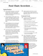 Brain-Powered Lessons - Food Chain Accordion
