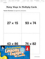 Brain-Powered Lessons - Many Ways to Multiply