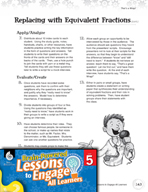 Brain-Powered Lessons - Replacing with Equivalent Fractions