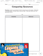 Brain-Powered Lessons - Resource Comparison