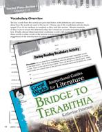 Bridge to Terabithia Vocabulary Activities (Great Works Series)