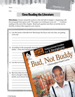 Bud, Not Buddy Close Reading and Text-Dependent Questions