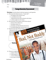 Bud, Not Buddy Comprehension Assessment (Great Works Series)