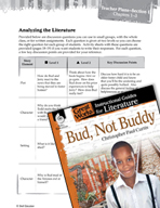 Bud, Not Buddy Leveled Comprehension Questions (Great Works Series)