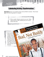 Bud, Not Buddy Post-Reading Activities (Great Works Series)