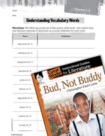 Bud, Not Buddy Vocabulary Activities (Great Works Series)