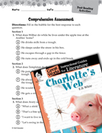 Charlotte's Web Comprehension Assessment (Great Works Series)
