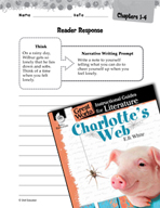 Charlotte's Web Reader Response Writing Prompts (Great Wor