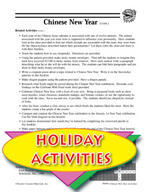 Chinese  New Year Activities - Lunar Observations and Other Themed Activities
