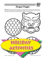 Chinese New Year Dragon Puppet and other Art Activities