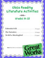 Close Reading Literature Activities for Grades 9-12