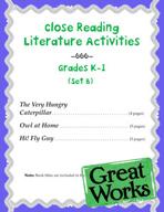 Close Reading Literature Activities for Grades K-1 (Set B)