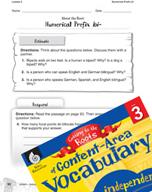 Content-Area Vocabulary Level 3 - Numerical Prefix bi-