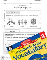 Content-Area Vocabulary Level 3 - Numerical Prefix tri-