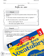 Content-Area Vocabulary Level 3 - Prefix co-, con-