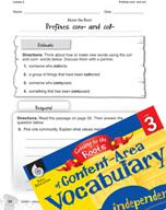 Content-Area Vocabulary Level 3 - Prefixes com- and col-