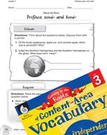 Content-Area Vocabulary Level 3 - Prefixes semi- and hemi-