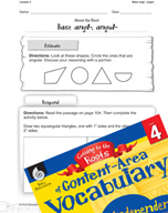 Content-Area Vocabulary Level 4 - Base angl-, angul-