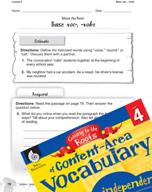 Content-Area Vocabulary Level 4 - Base voc-, -voke