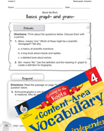 Content-Area Vocabulary Level 4 - Bases graph- and gram-