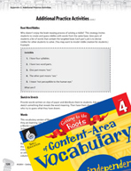 Content-Area Vocabulary Level 4 - Card -  Games and Word Games for Practice