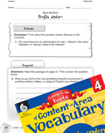 Content-Area Vocabulary Level 4 - Prefix inter-