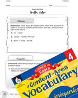 Content-Area Vocabulary Level 4 - Prefix tele-