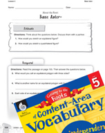 Content-Area Vocabulary Level 5 - Base later-