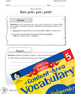 Content-Area Vocabulary Level 5 - Base pon-, pos-, posit-