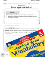 Content-Area Vocabulary Level 5 - Bases aqua- and hydr(o)-
