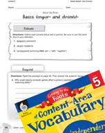 Content-Area Vocabulary Level 5 - Bases tempor- and chron(o)-