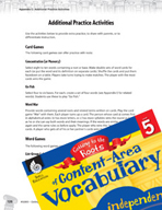 Content-Area Vocabulary Level 5 - Card -  Games and Word Games for Practice