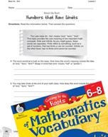 Content-Area Vocabulary Mathematics - Base fin-, finit-