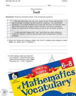 Content-Area Vocabulary Mathematics - Base tang-, tag-, tig-, tact-