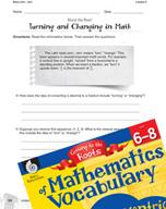 Content-Area Vocabulary Mathematics - Base vers-, vert-