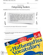 Content-Area Vocabulary Mathematics - Bases integer-, inte