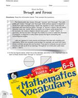 Content-Area Vocabulary Mathematics - Prefixes dia- and per-