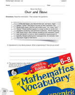 Content-Area Vocabulary Mathematics - Prefixes hyper- and super-, sur-