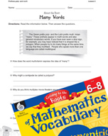 Content-Area Vocabulary Mathematics - Prefixes poly- and multi-