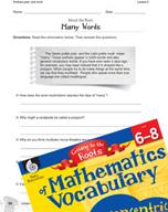 Content-Area Vocabulary Mathematics - Prefixes poly- and multi-