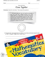 Content-Area Vocabulary Mathematics - Prefixes syn-, sym-, syl-, co-, con-, com-