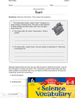 Content-Area Vocabulary Science - Base Card - i(o)