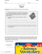 Content-Area Vocabulary Science - Base Card - i(o)