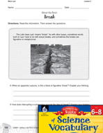 Content-Area Vocabulary Science - Base rupt-