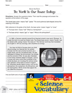 Content-Area Vocabulary Science - Base spher-