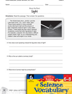 Content-Area Vocabulary Science-Bases phos-, phot(o)-, and