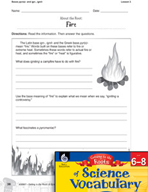 Content-Area Vocabulary Science - Bases pyr(o)- and ign-, ignit-