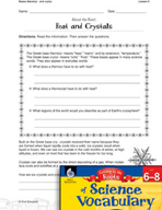 Content-Area Vocabulary Science - Bases therm(o)- and cry(o)-